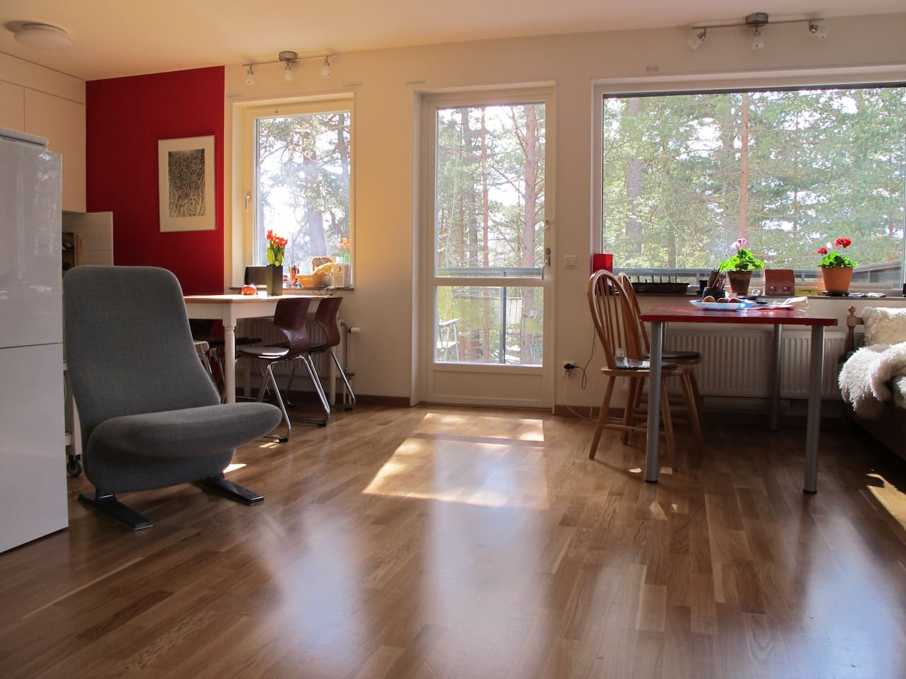 Modern apartment in nature area