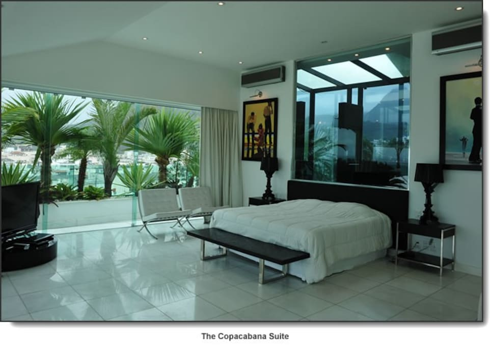 Copacabana Terrace : the Copacabana suite with furnitures designed by Philippe Starck www . copacabanaterrace . com