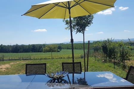 maison cosy, vue sur le vignoble - Hus