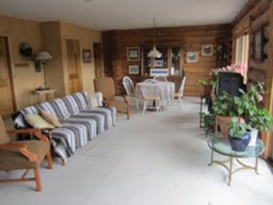 The family room is a great place to relax & view the mountains or to play cards or games.