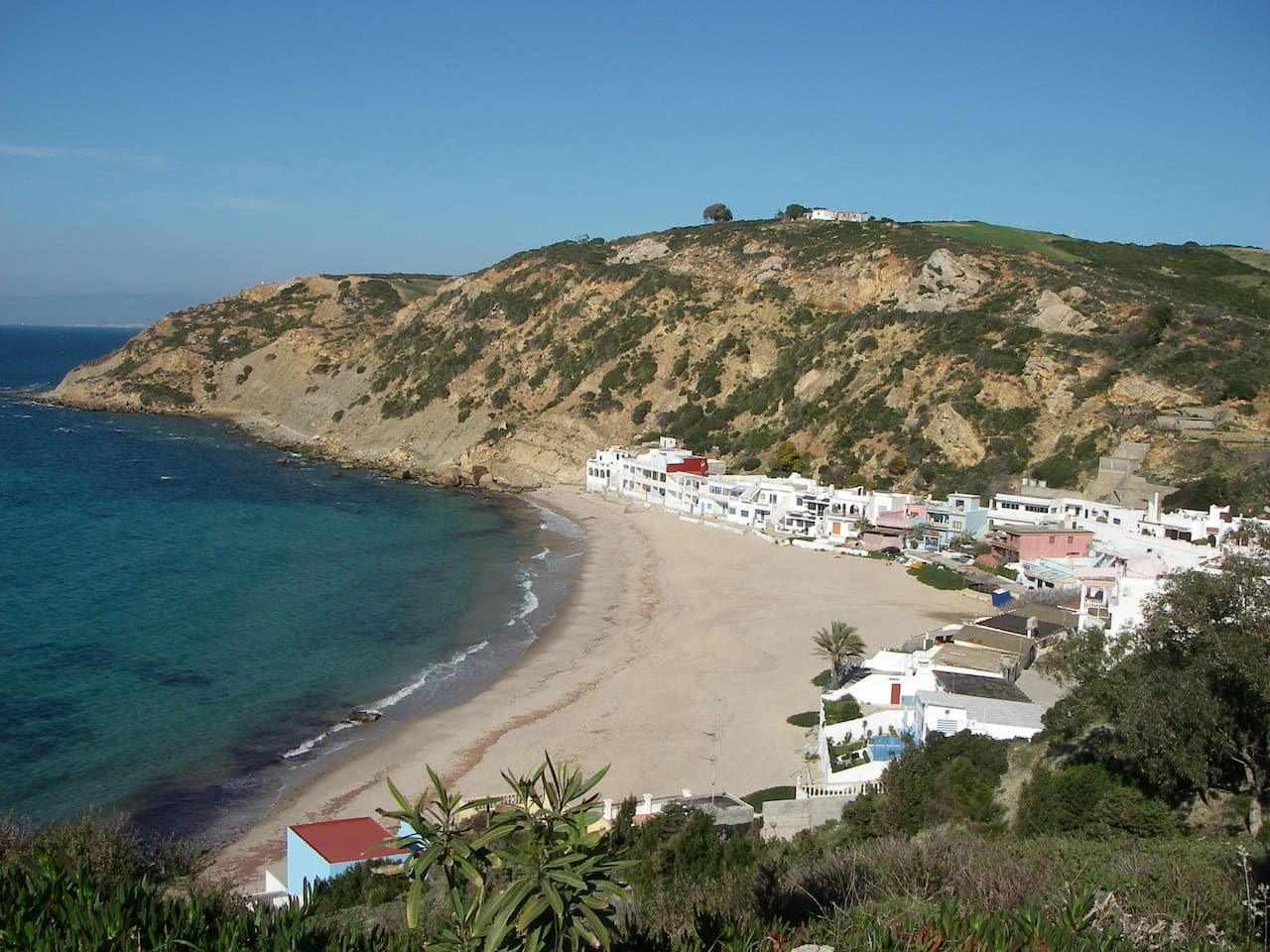 Playa Blanca - view from the road leading to the beach.