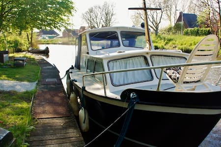 Slapen op het water. - Wirdum - Boat