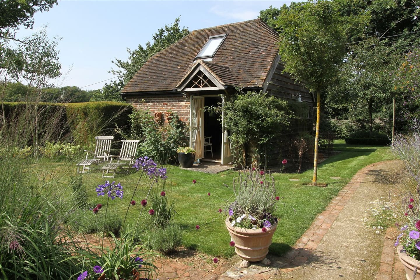 The guest accommodation is set in the natural and spacious gardens