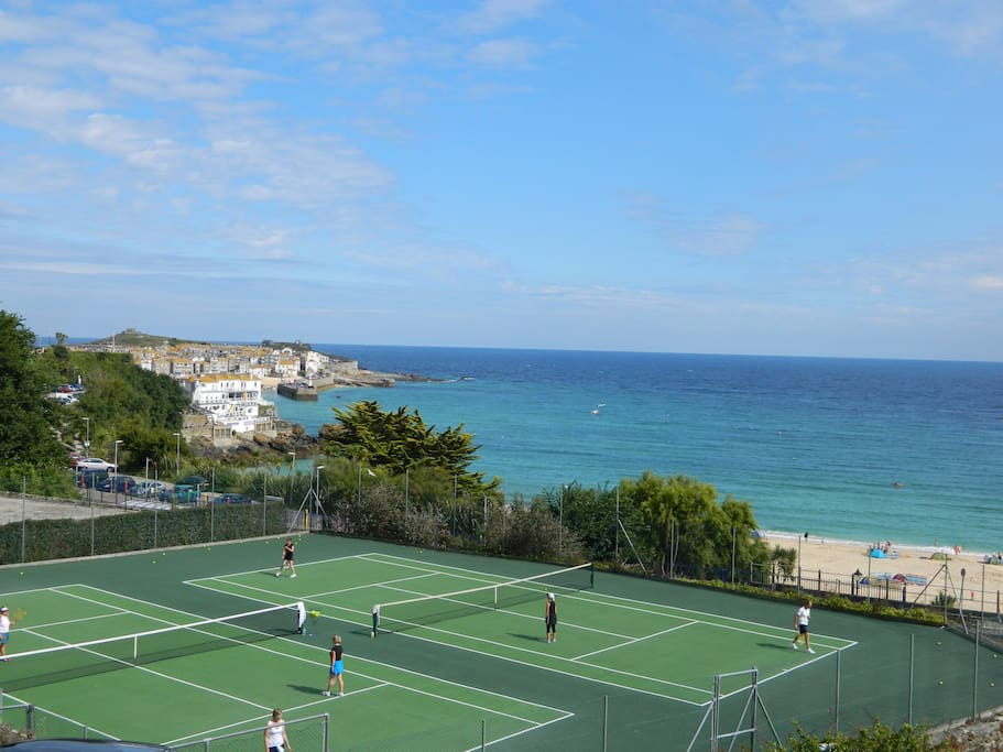 Porthminister Beach tennis courts available for hire