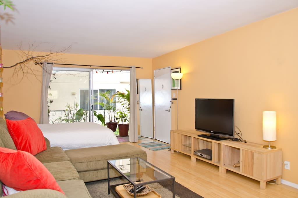 Bedroom has two new queen beds and a large window facing your own private balcony.
