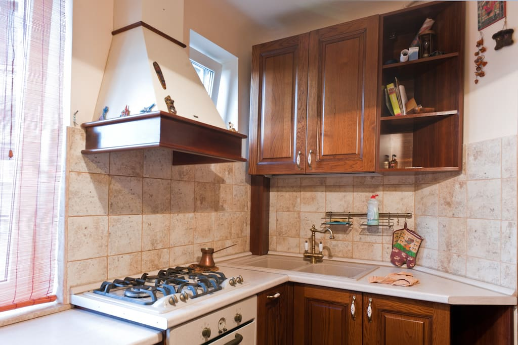 Kitchen - sinks, stove and oven