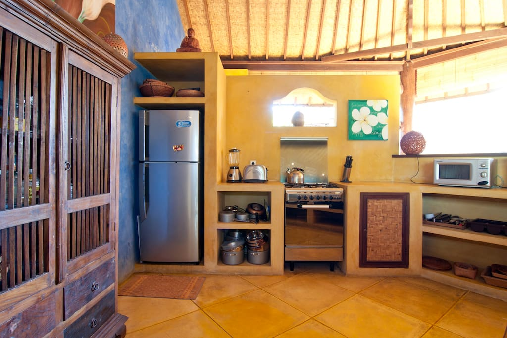 Fully equipped kitchen where our staff will be preparing you breakfast every morning.