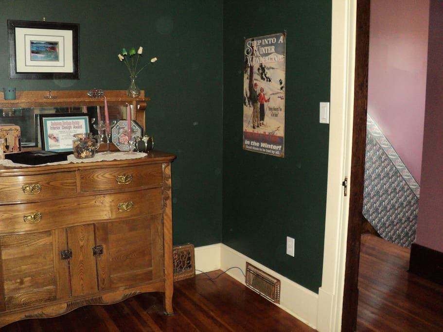 Antique dresser for use. (ornaments will be gone)