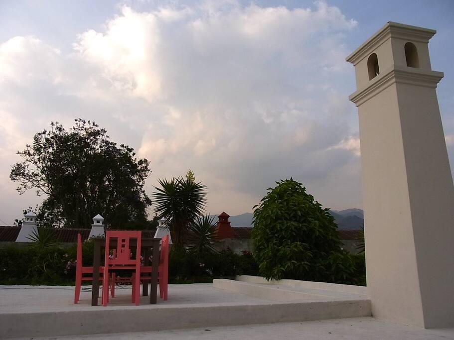 Roof Top Terrace with Mountain Veiw