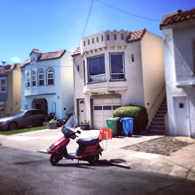 This is the street view of the house. Funky and charming SF style!