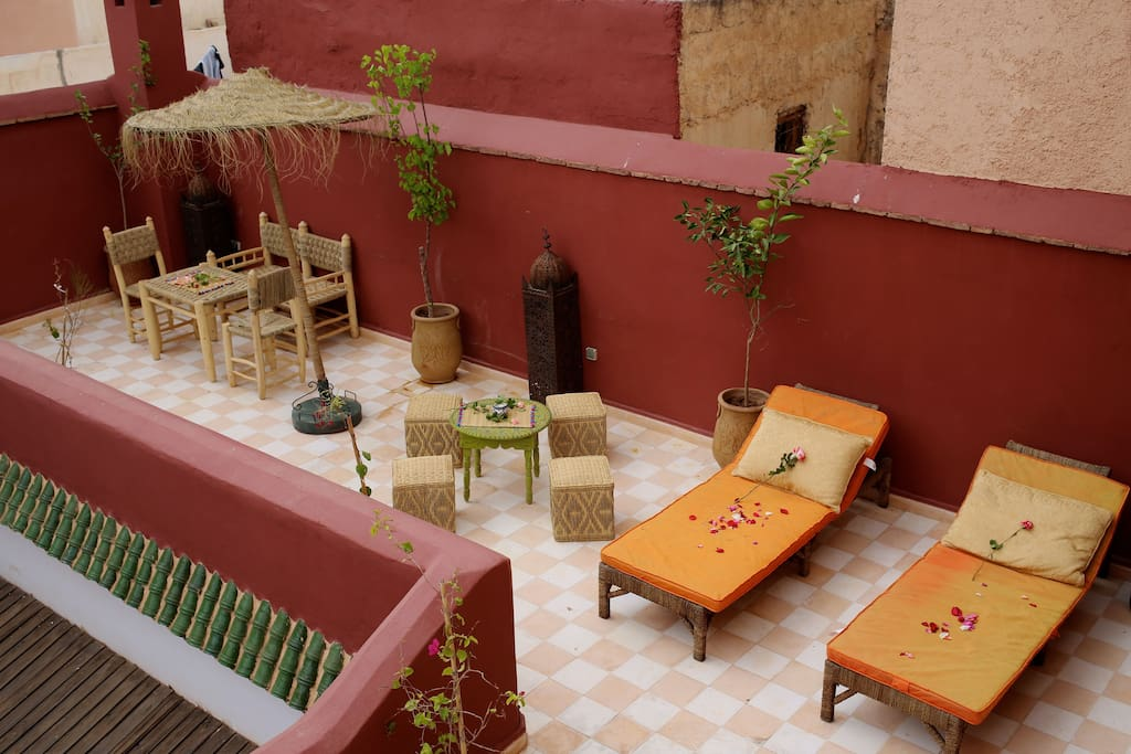 Terrace with ample space for relaxing and dining