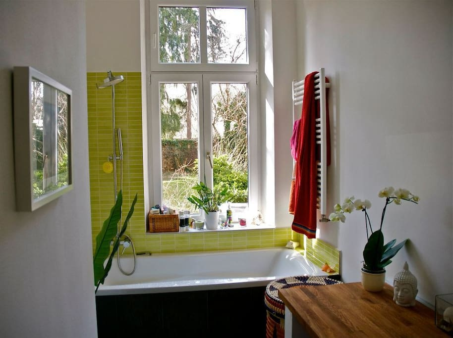 your bathroom dream with garden view