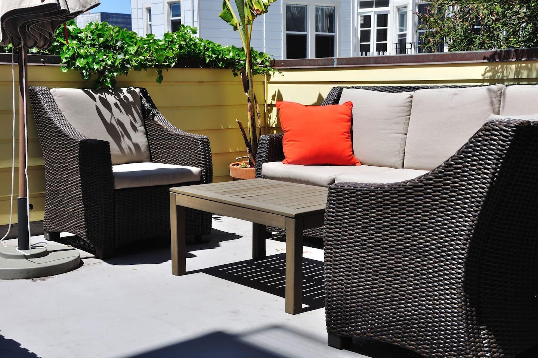 Private 500 square foot deck