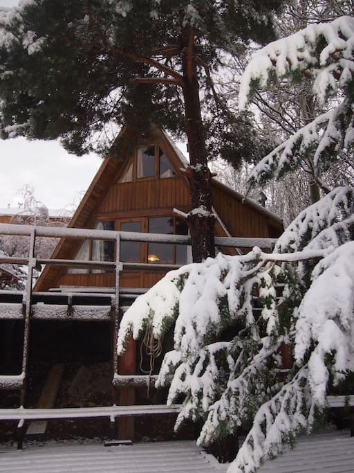 the house with first snow (May 2nd)