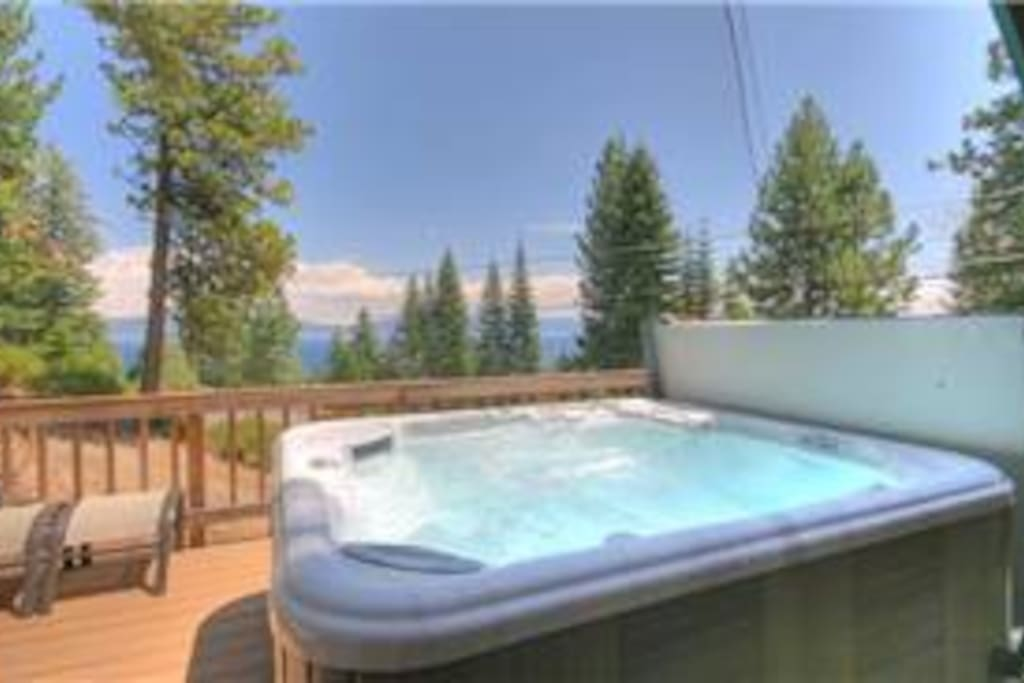 Hot tub view from the deck