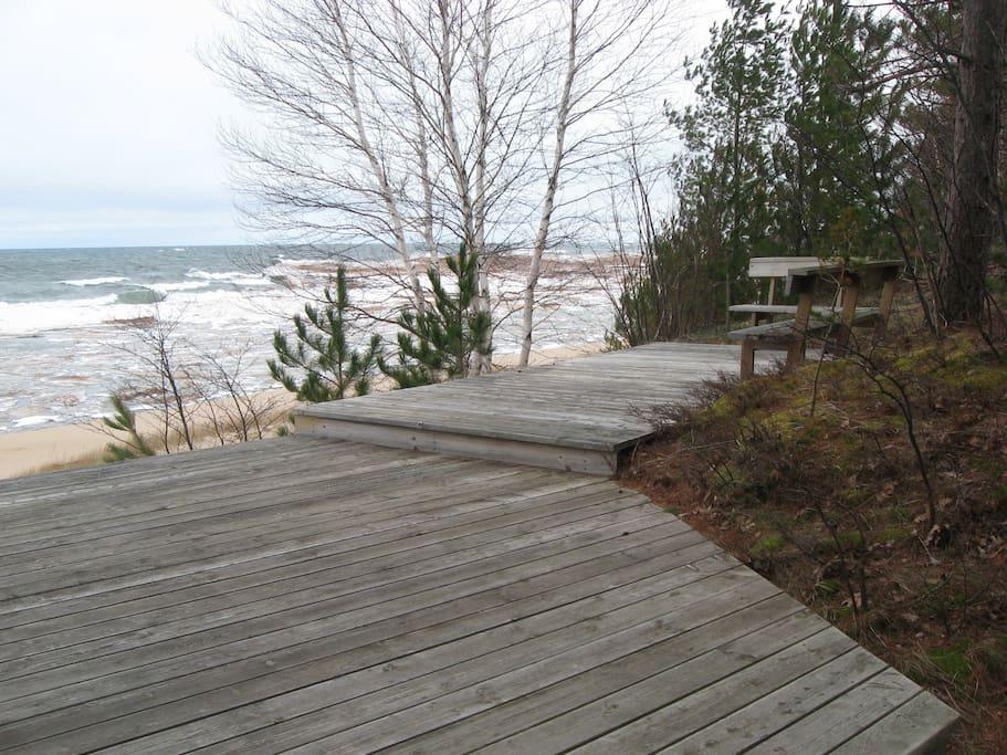 Deck overlooking Lake Superior