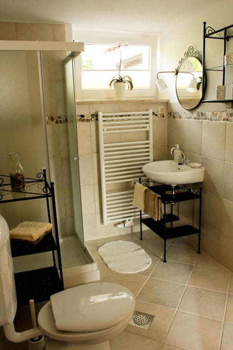Your own cosy bathroom with shower