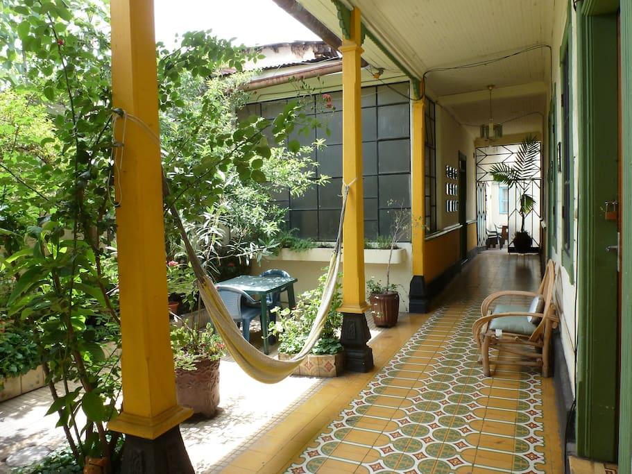 Garden and Corridor