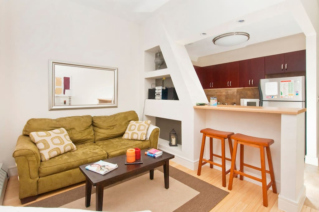 Bright, Renovated 1BR in Brownstone