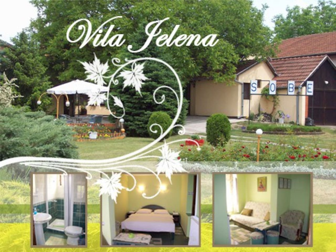 Vila JELENA, Rooms near lake Palic