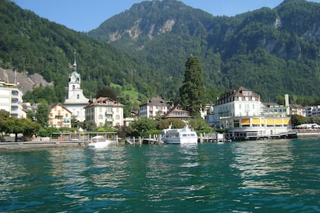 Sonnig, nähe See und Wasserfall ,Top - Aussicht ! - Vitznau - Rumah
