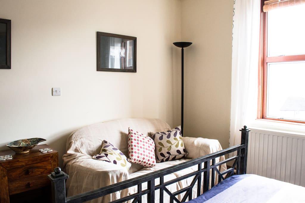 Bedroom lounge area