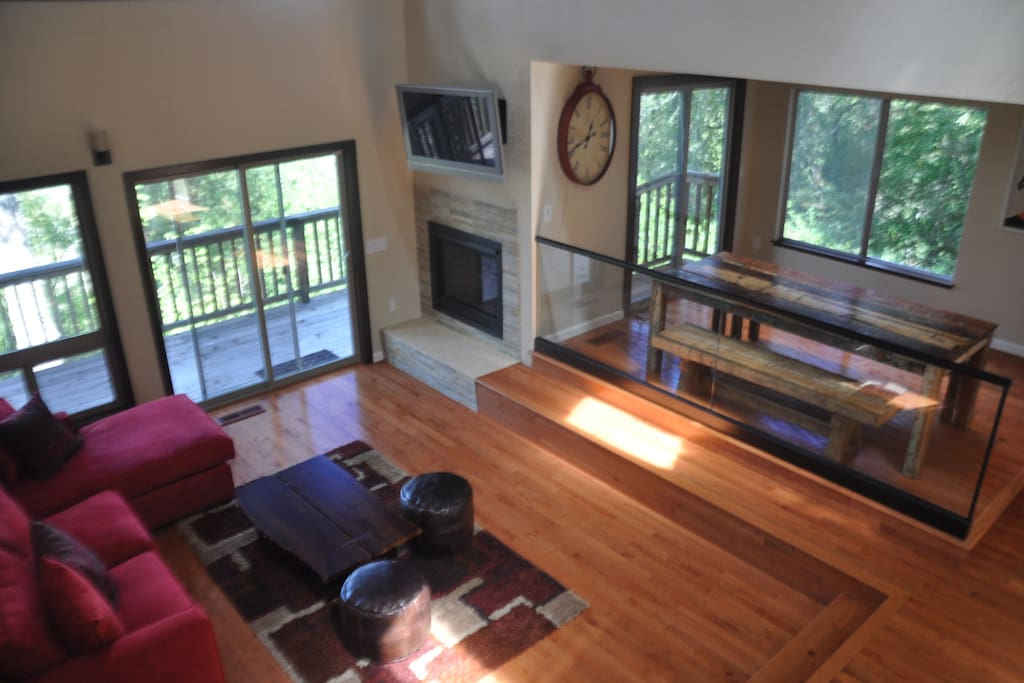 View of living room at Modern & Hip Cabin