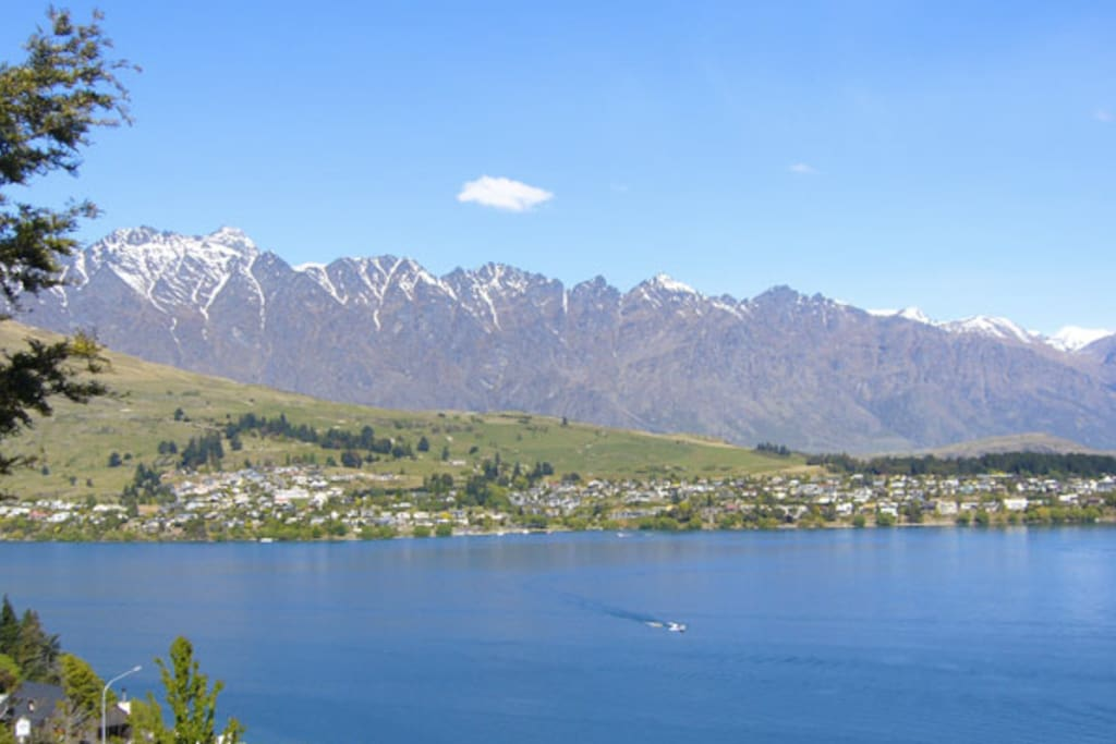 View up Lake Wakitipu from the house