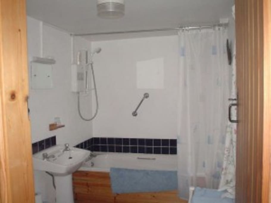 Full bathroom with overhead shower