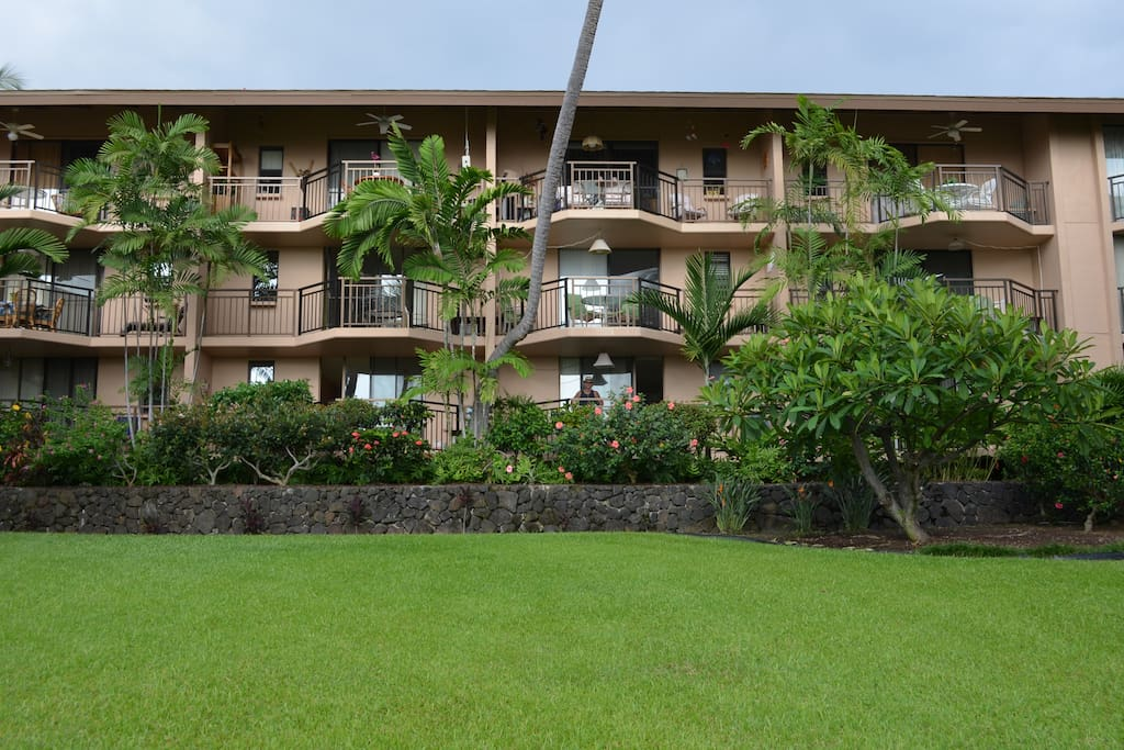 Lanai on ground floor.