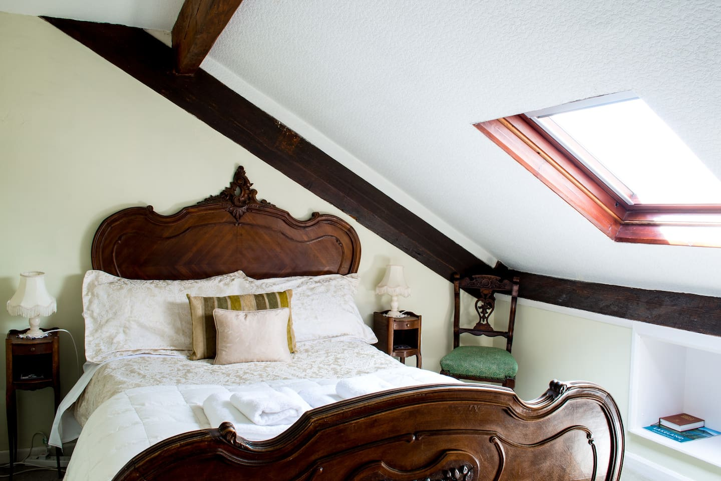 The Attic is on the second floor of the house and will appeal to lovers of quirky architecture and period features. The velux window to the right opens up to far-reaching Lake and fell views.
