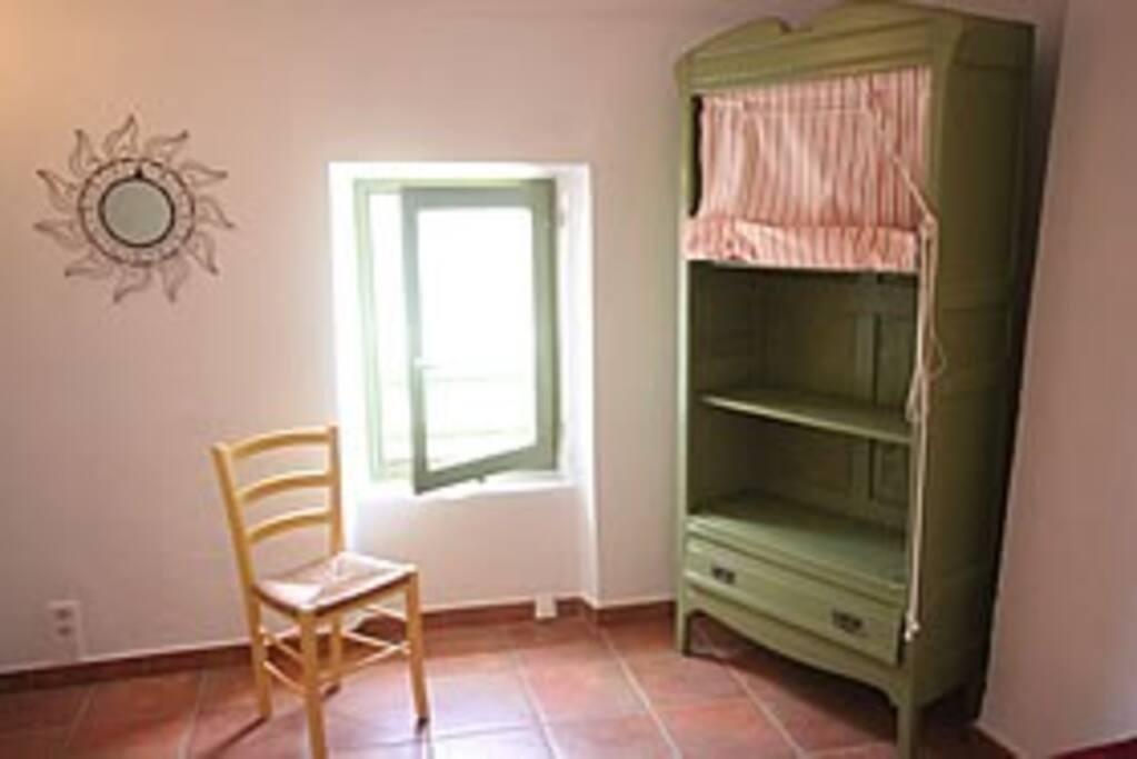Salon and kitchen