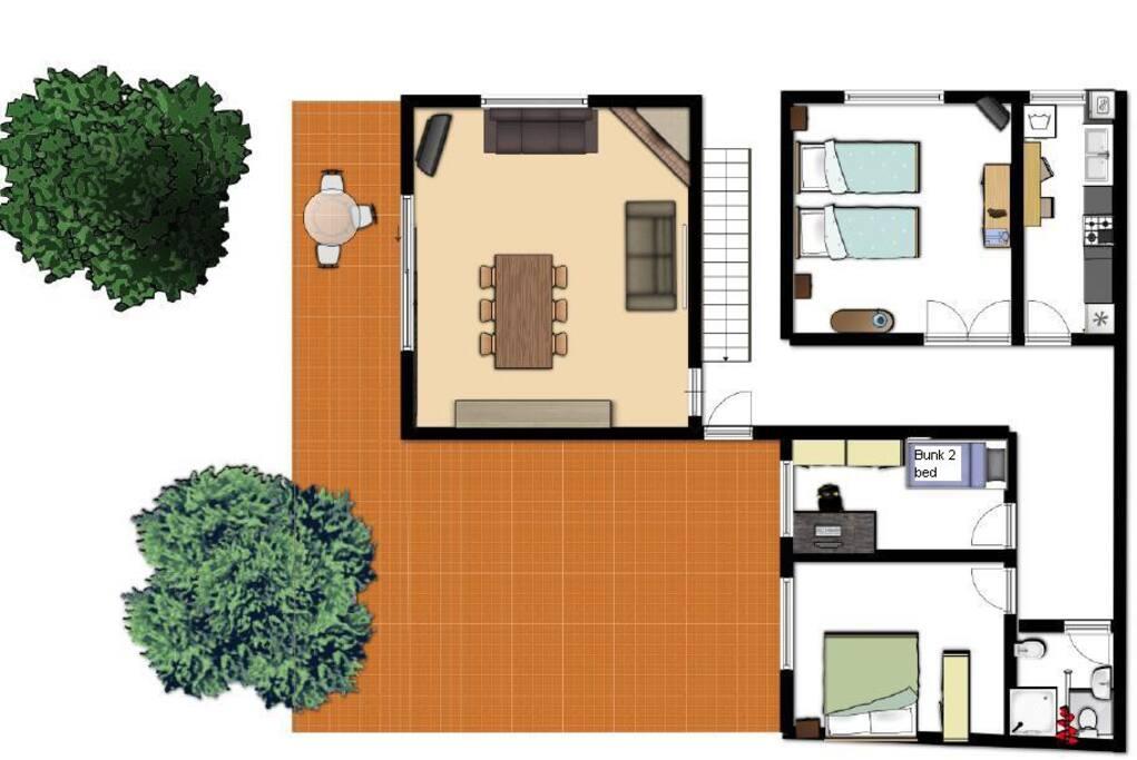 SUNNY VILLAGE HOUSE NEAR BARCELONA