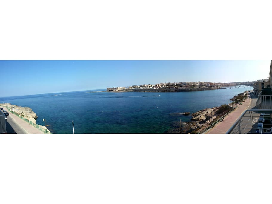 view from balcony outside of harbour