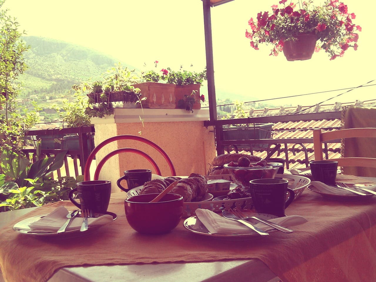 Sunny breakfast.