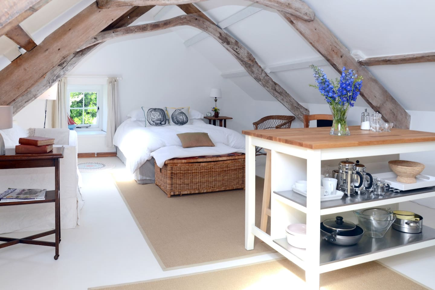 The secluded and private apartment with everything you should need for your stay.