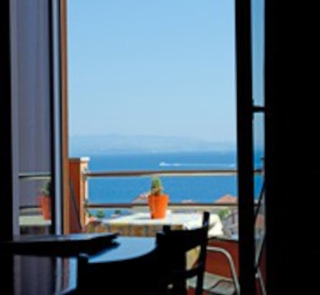 Terasse with breathtaking sea view at Dalmatian islands