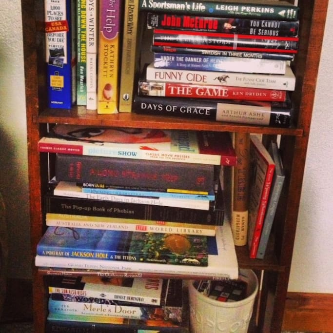 piles of books in the guest room to dig into.