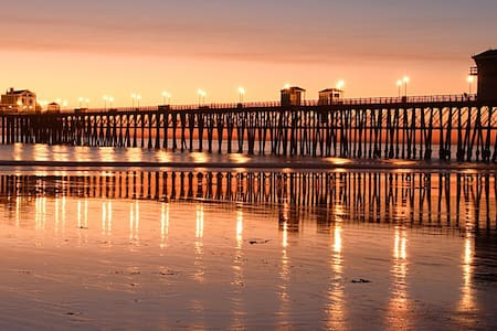 Pacific Escape - One Block to Beach and Pier! - Oceanside