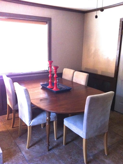 Dinning table seats 8