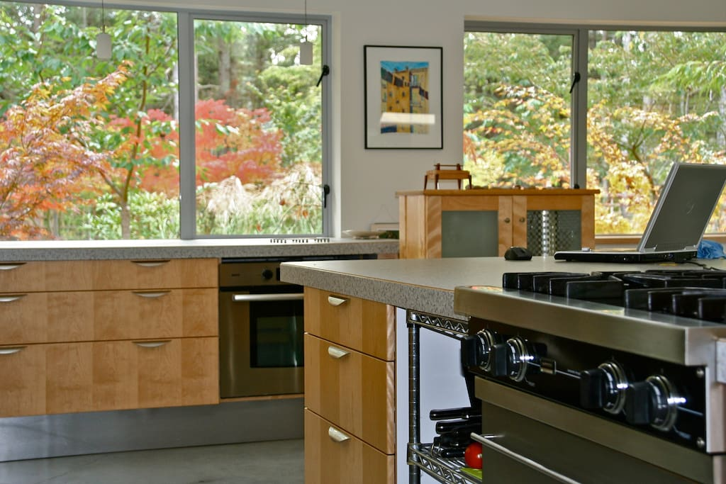 Plenty of counter space for preparation of imaginative meals.