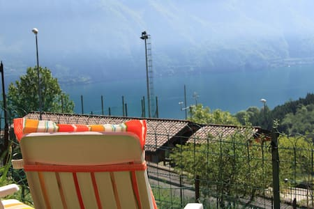 Iseo Lake. Garden and lake view. - Fonteno