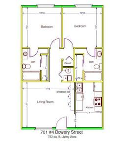 1 Bdrm/1 Bthrm in 2Bd/Bth Apartment - アパート