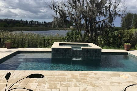 Tampa Fl Area Scenic Spa lake front - Land O' Lakes - Hus