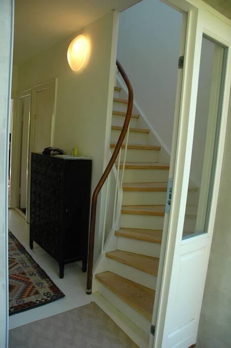 Entrance and stairs to 1.st floor
