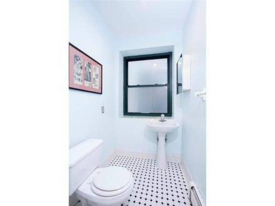 Guest half bathroom!