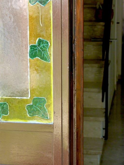 Un decoro della porta