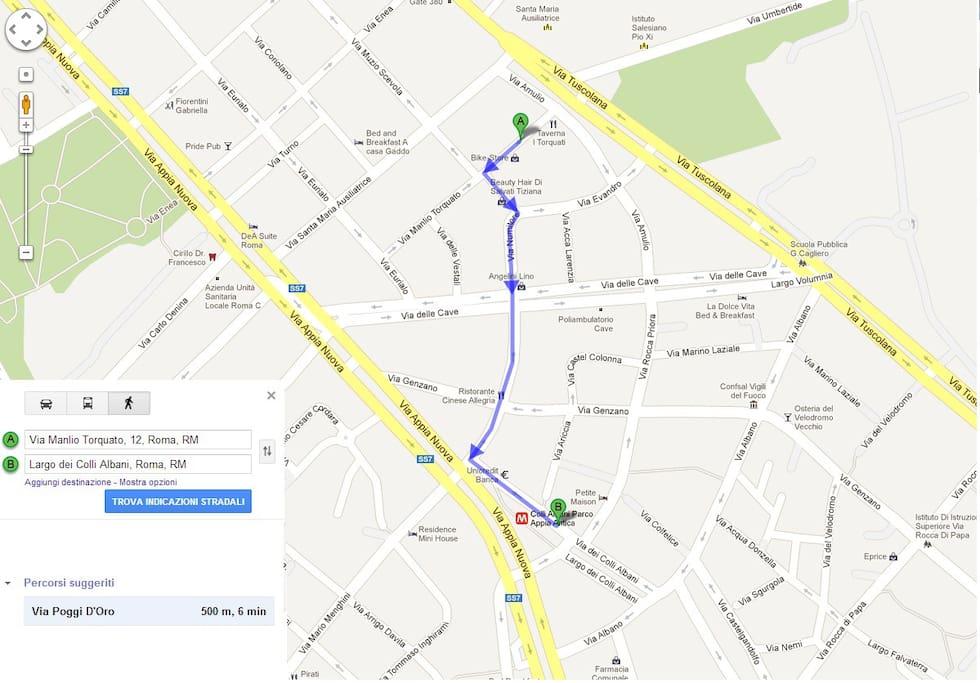 Percoso Casa-Metro solo 500 mt - From Home to Metro station just half kilometer.