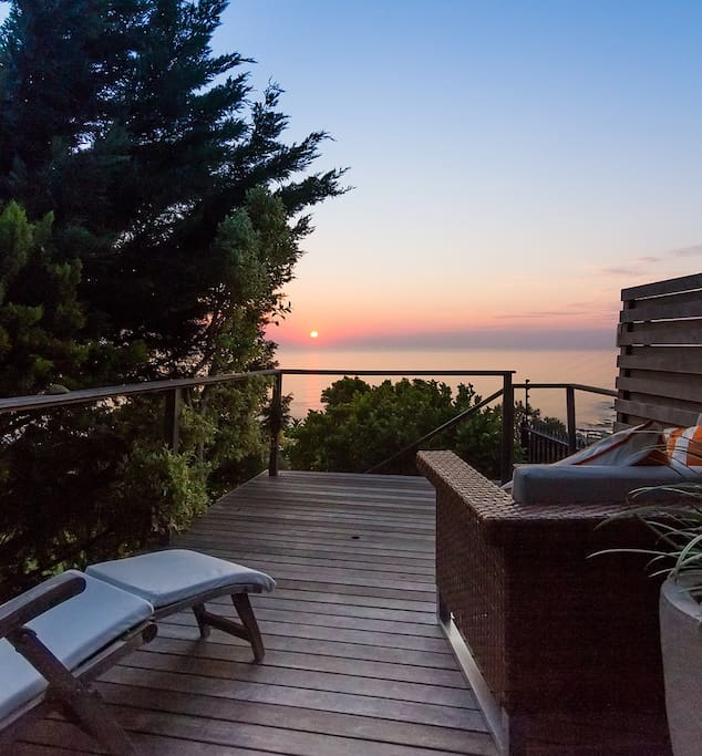 You will spend a lot of time enjoying the sunsets from your own private terrace