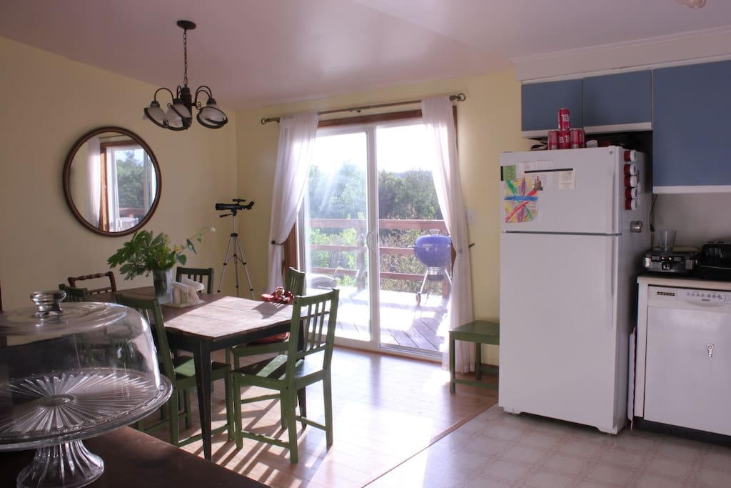 Bright sunny Kitchen and Dining Area